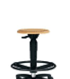 Hocker mit Holzsitz