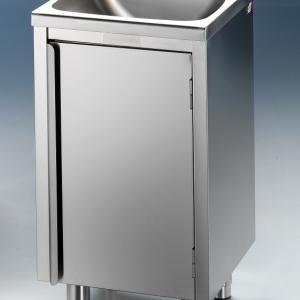 Edelstahl Handwaschbecken 500 x 500 x 900 mm