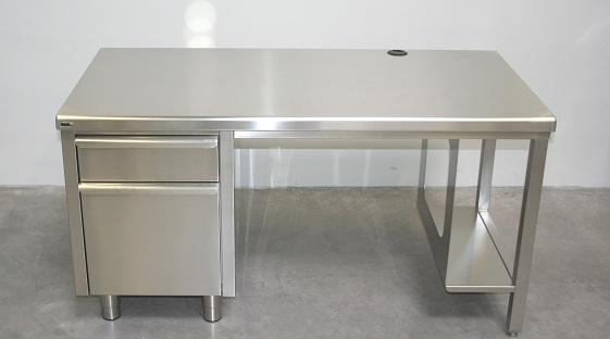 Edelstahl Arbeitstisch mit 760 mm Höhe
