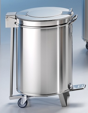 Edelstahl Tretabfalleimer 100 Liter