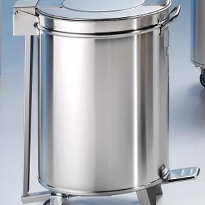 Edelstahl Tretabfalleimer 50 Liter