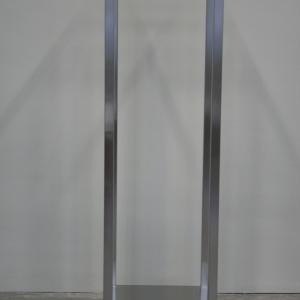 Edelstahl Garderoben in 2000 mm Höhe und 600 mm Tiefe