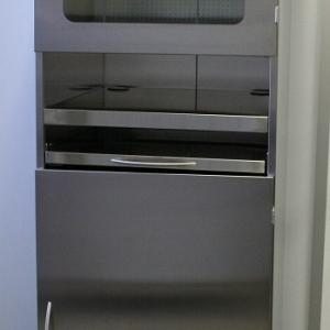 Edelstahl PC-Schrank 600 x 680 x 2000/ 2216 mm