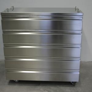 Rollschrank Edelstahl 1200 x 680 x 1220 mm