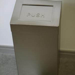 Abfallbehälter Edelstahl 60 Liter