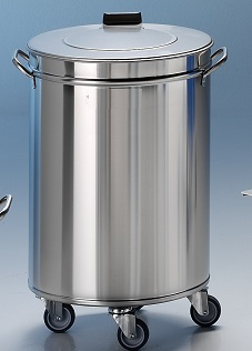 Edelstahl Mülleimer 60 Liter