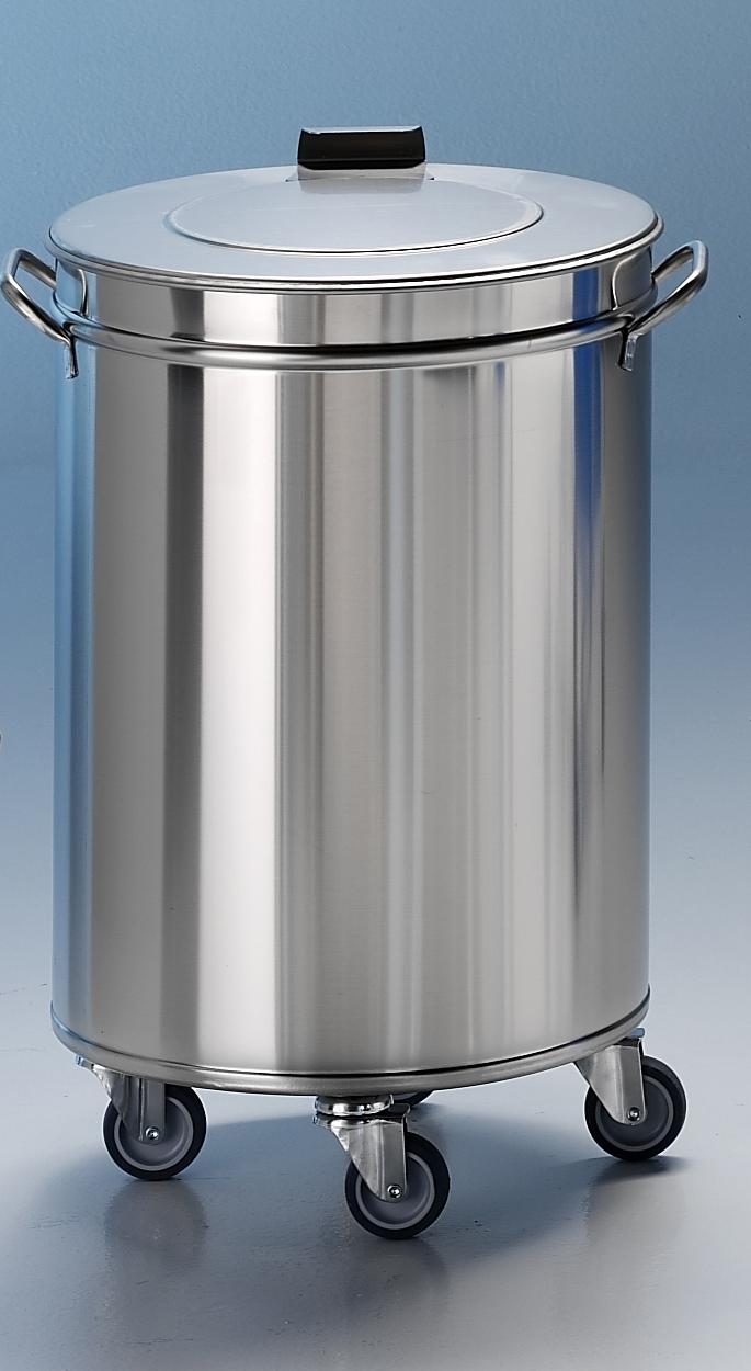 Edelstahl Mülleimer 100 Liter